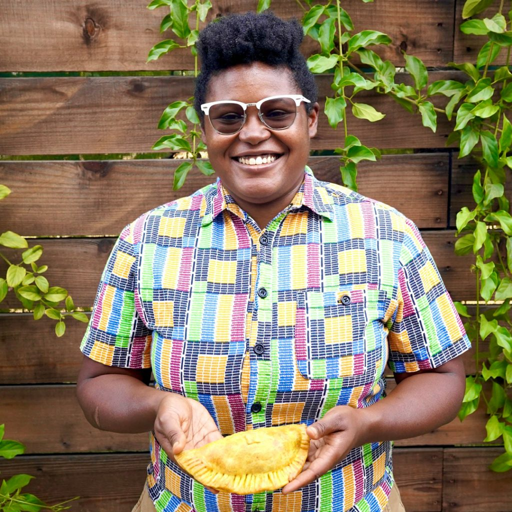 Rashida Holmes, owner of Bridgetown Roti in Los Angeles
