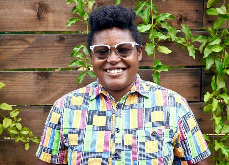 Rashida Holmes, owner of Bridgetown Roti
