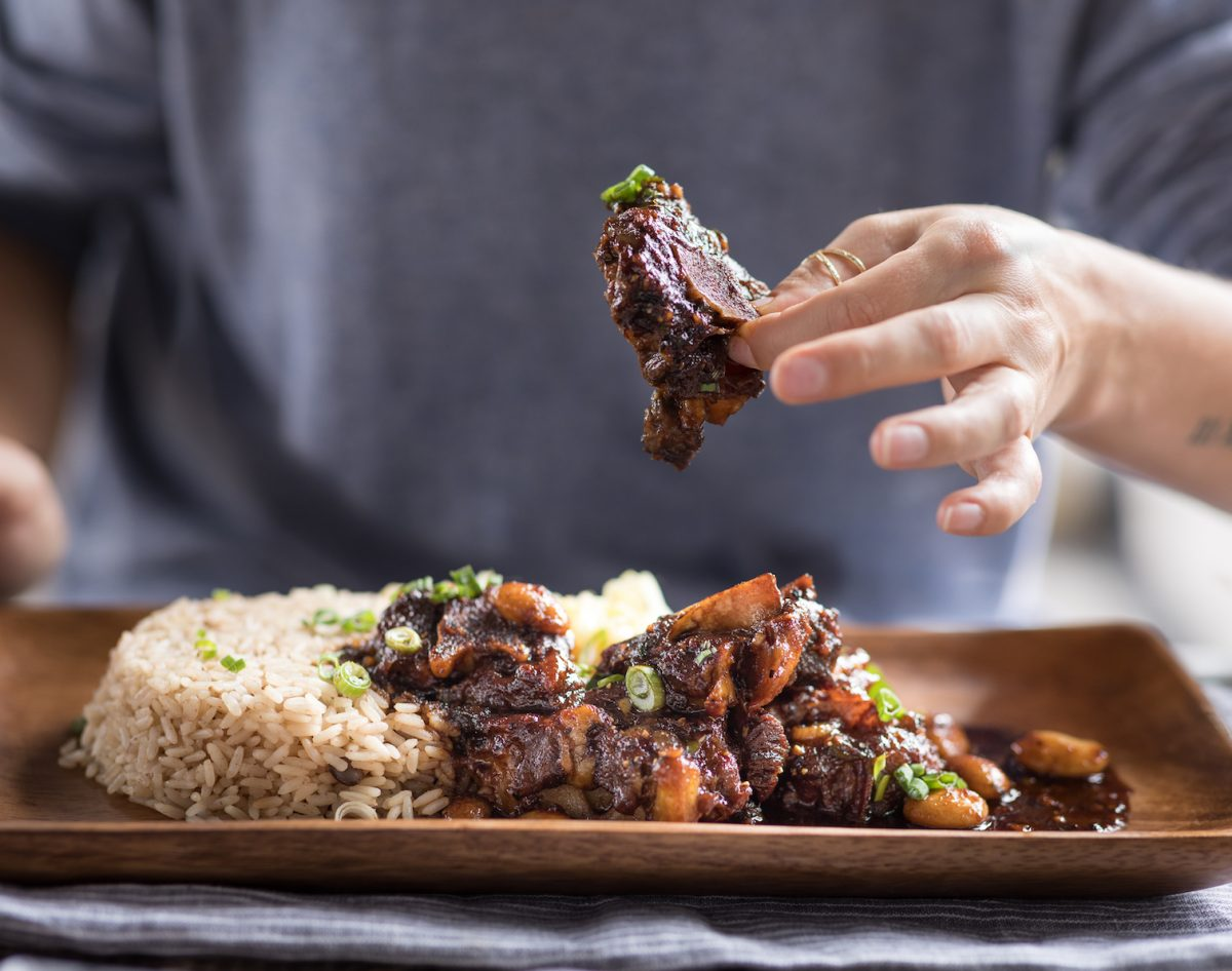 Oxtails at The Jerk Shack by Nicole Blaque