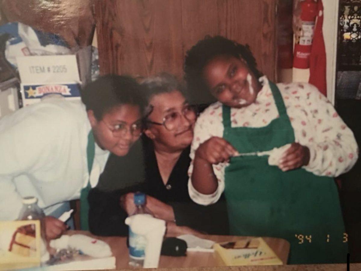 Keyen and Ricca Macklin with Mama Jannie Macklin