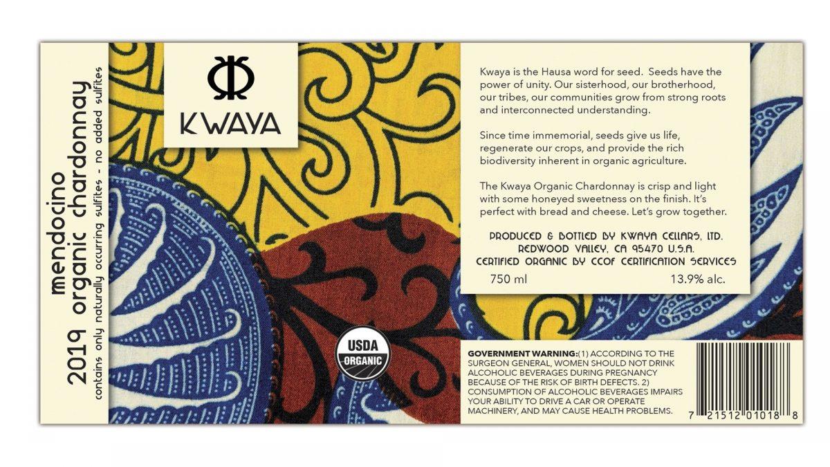 Kwaya chardonnay label