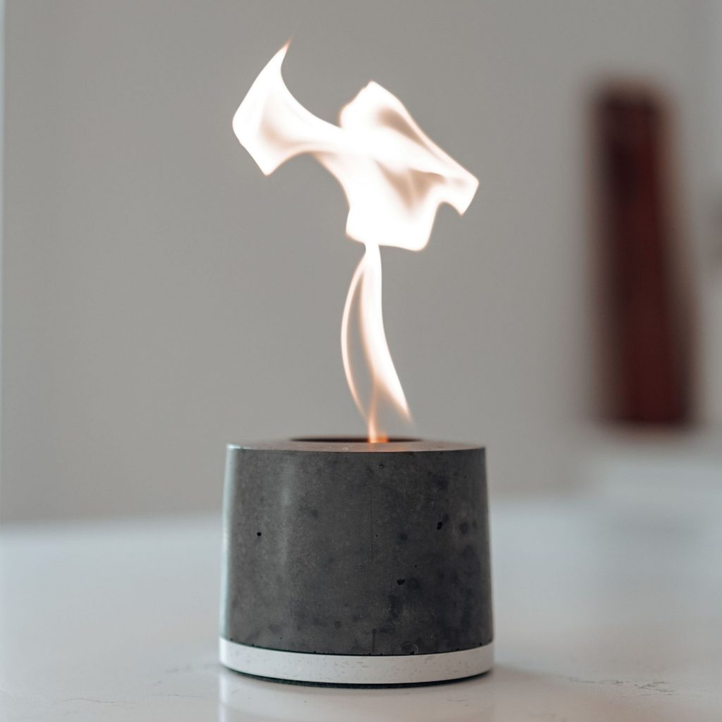 Personal Concrete Fireplace