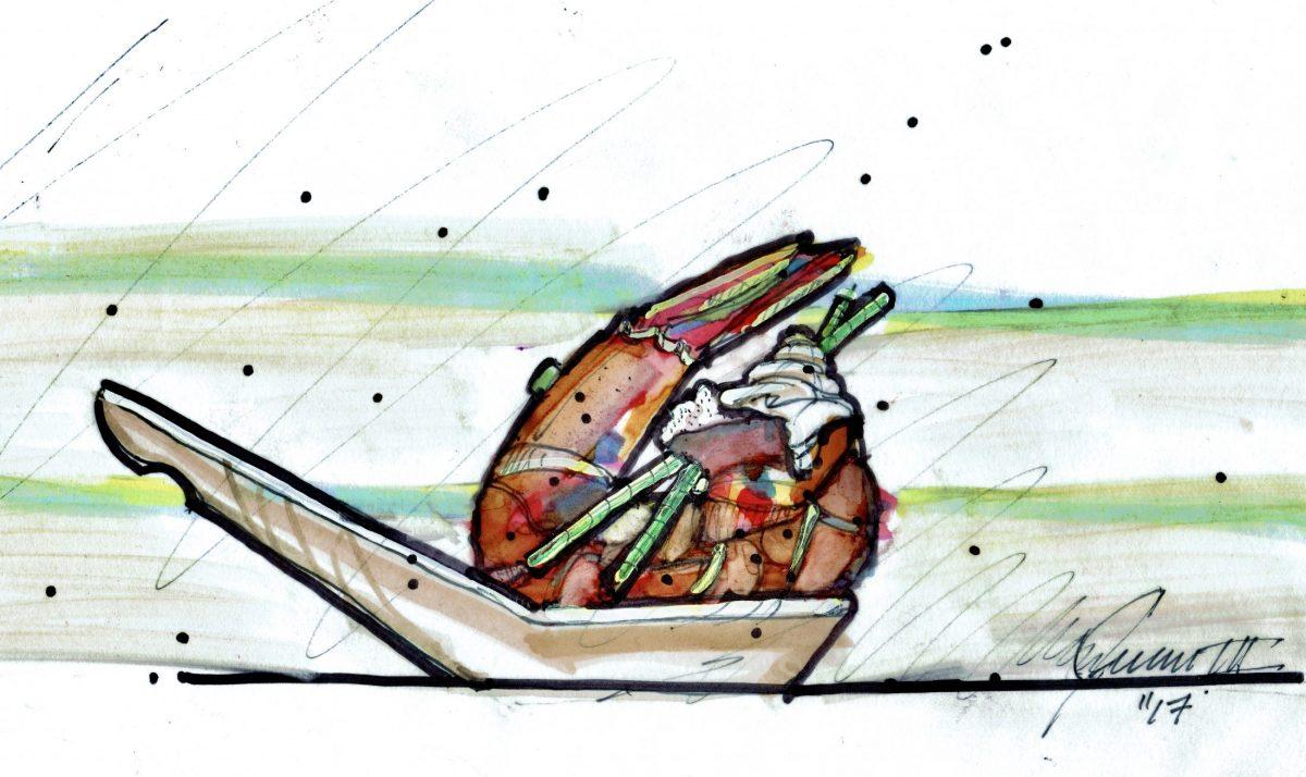 Vday Shrimp Spoonsful Color Sketch