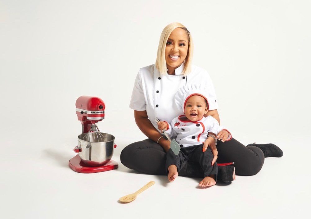 Chef Fab with her baby