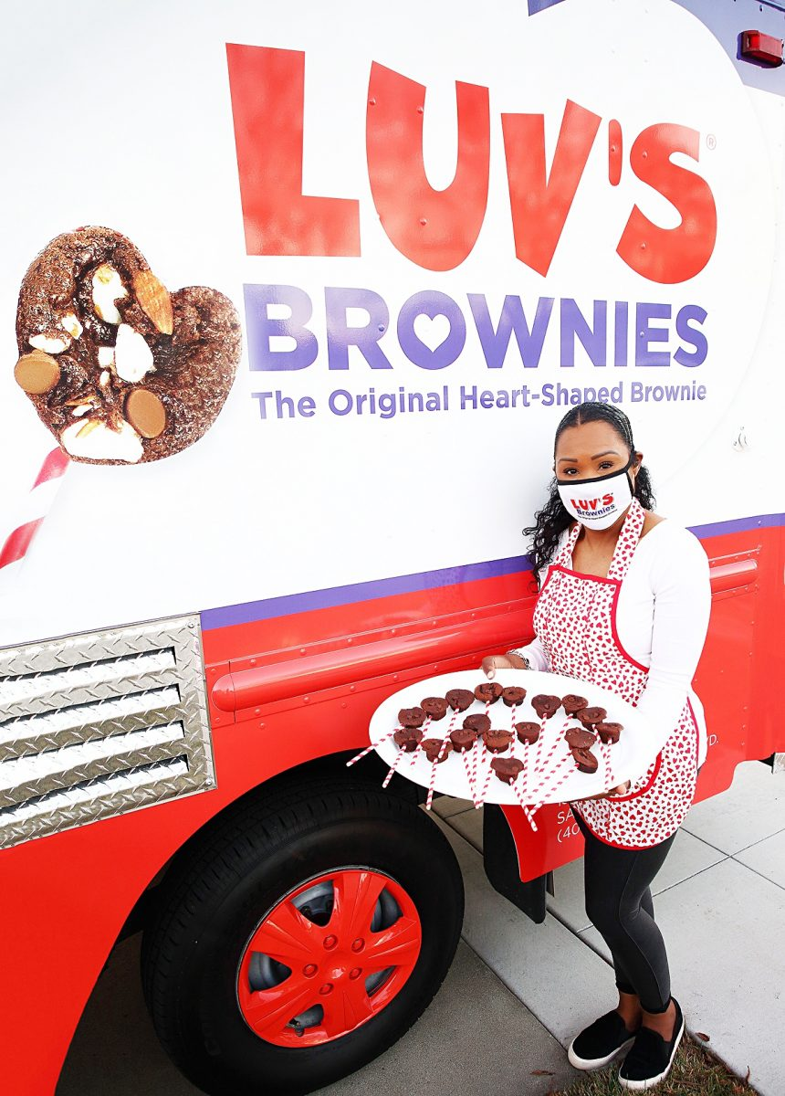 Andrea Lacy, owner of Luv's Brownies