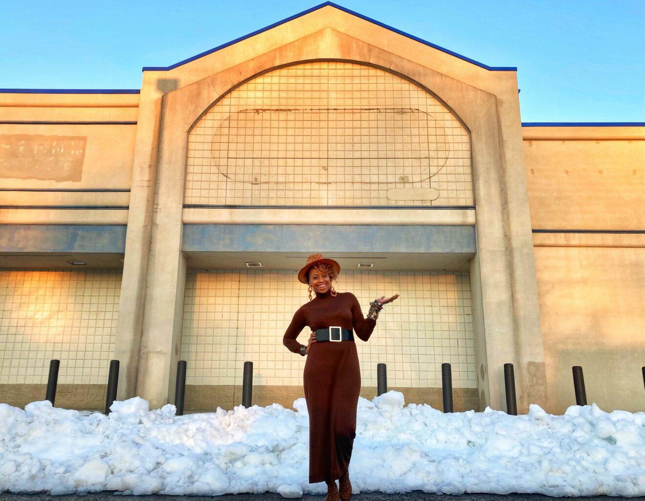 Alexandra Bernard Simmons outside of Seneca Market location