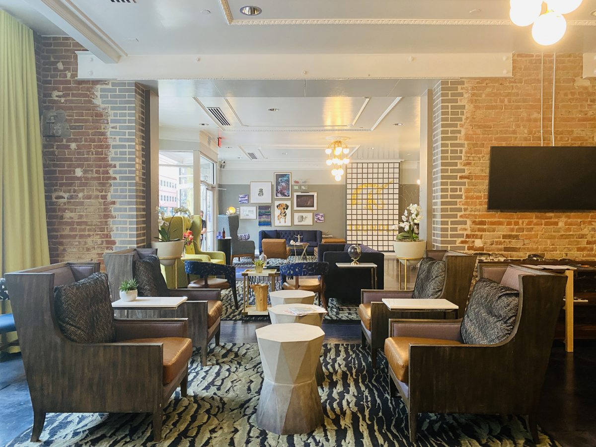 Lobby of Hotel Trundle in Columbia, SC
