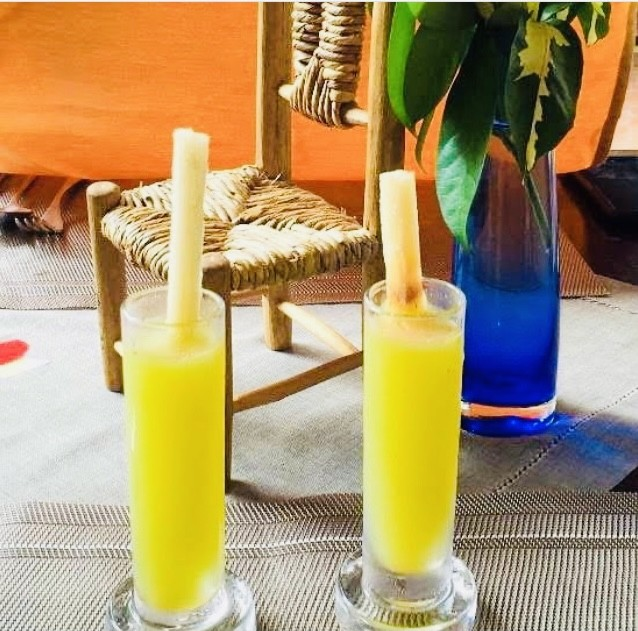 Non-alcoholic welcome drink at Orlando's Restaurant & Bar in St. Lucia