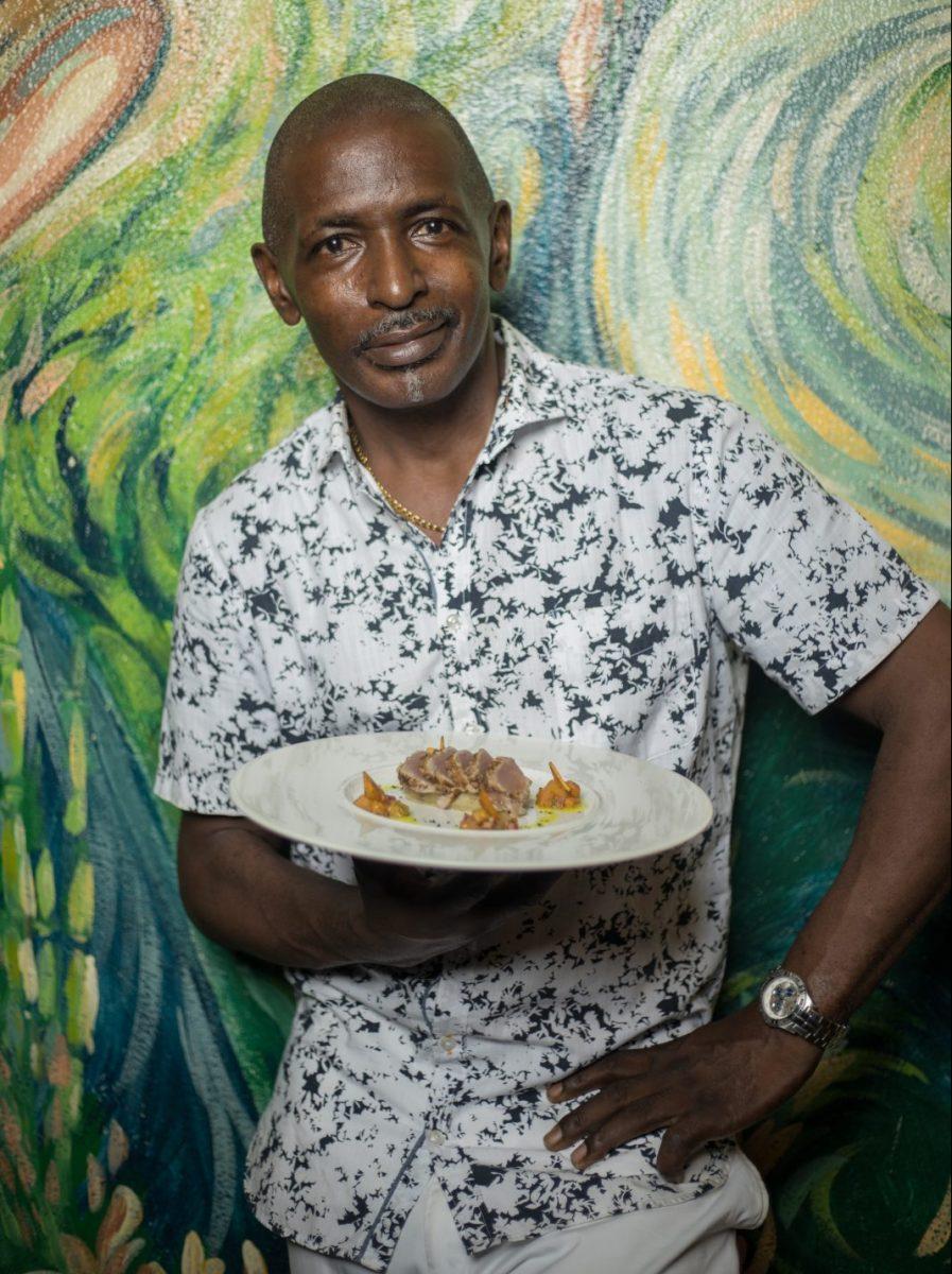 Orlando Satchell, owner of Orlando's Restaurant & Bar in St. Lucia