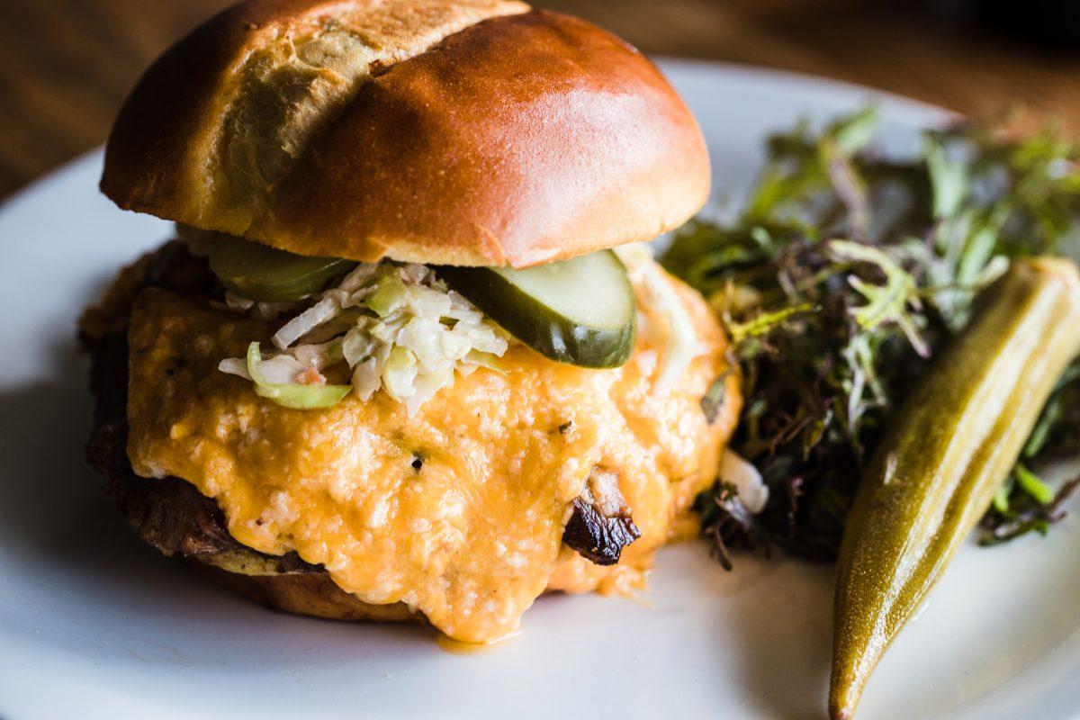 Pimento cheeseburger for a restaurant in Columbia, South Carolina