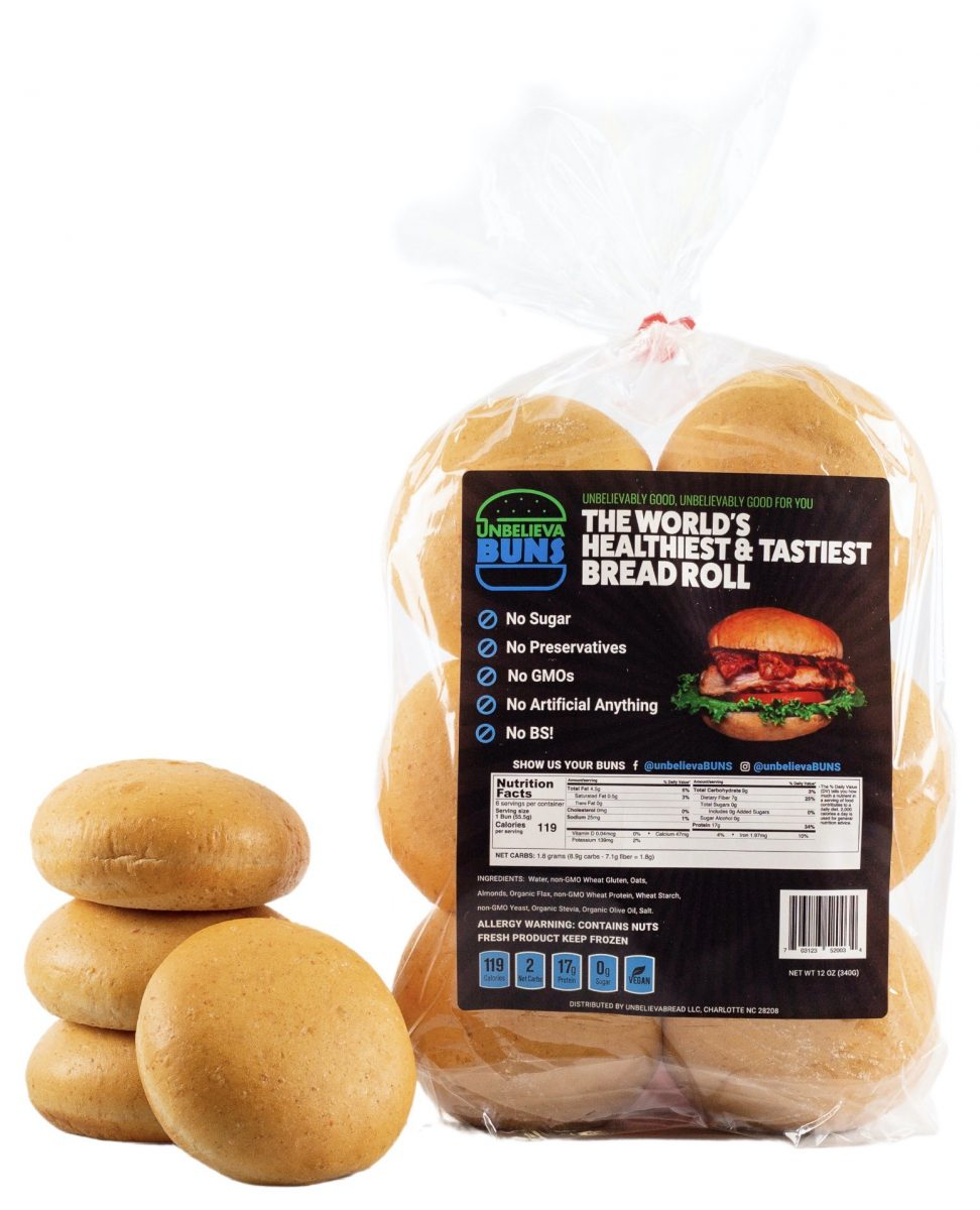 UnbelievaBuns High Protein, Low Carb Bread Buns