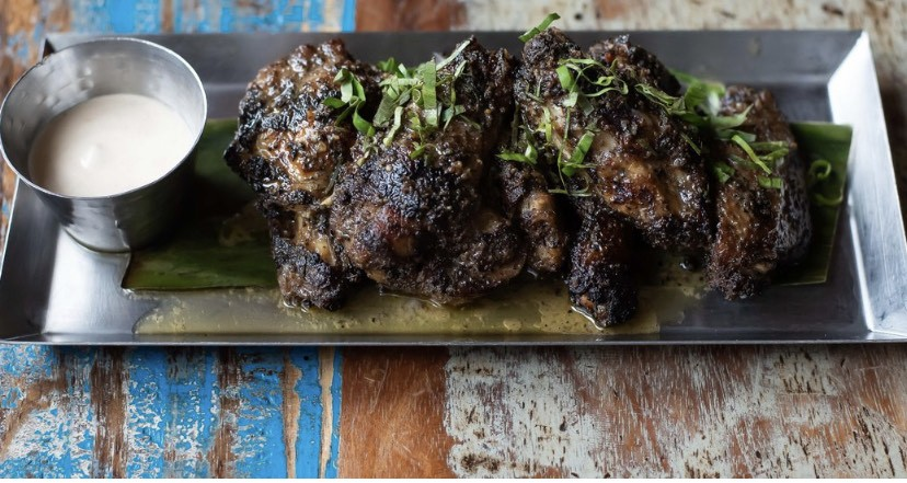 Jerk chicken wings at Cane in D.C.