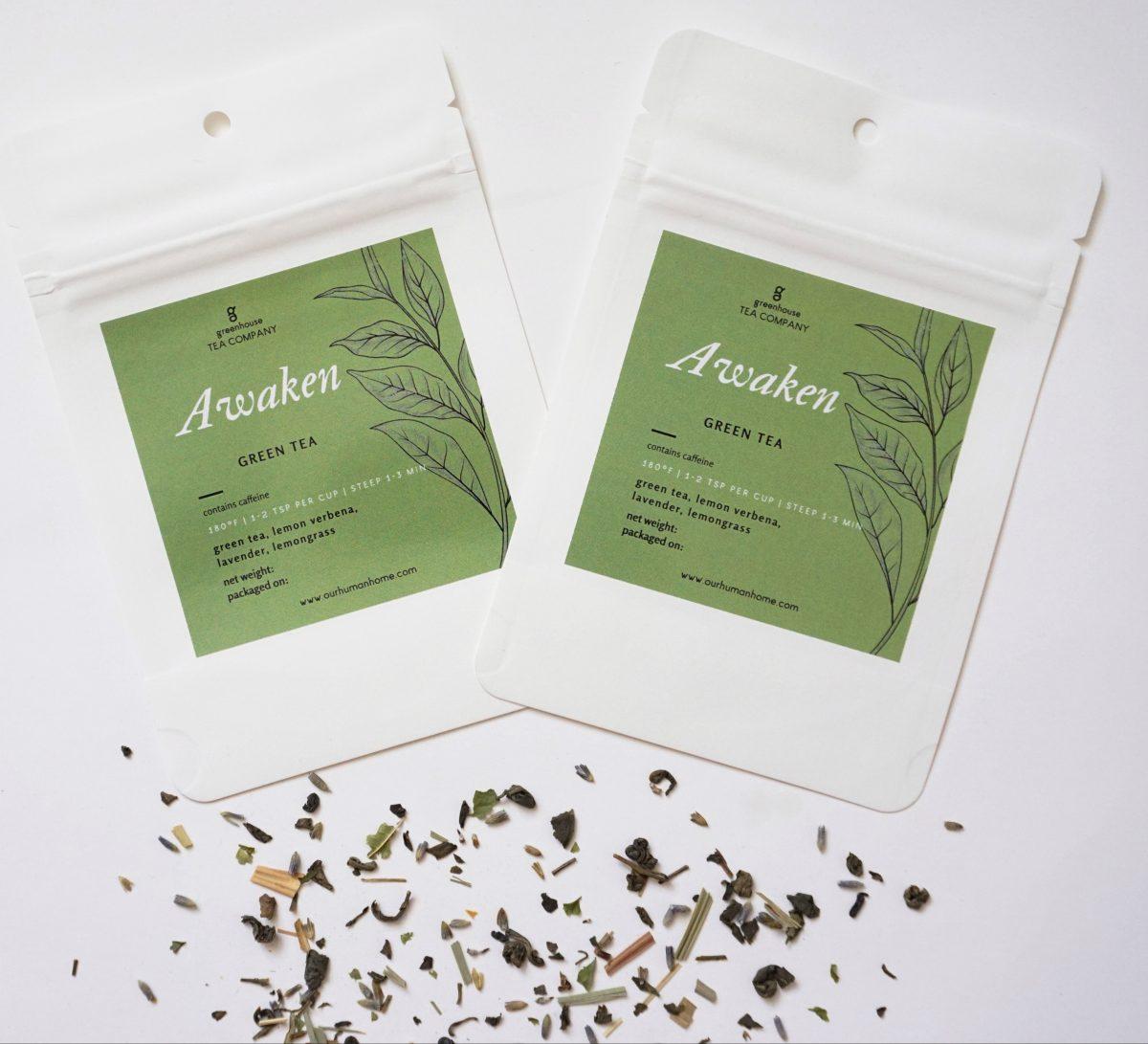 Awaken green tea by Greenhouse Tea Company