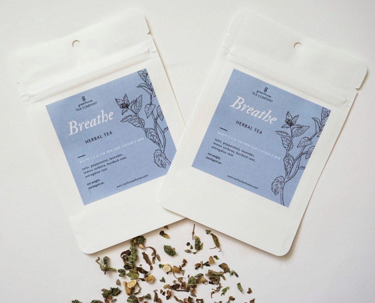Breathe herbal tea by Greenhouse Tea Company