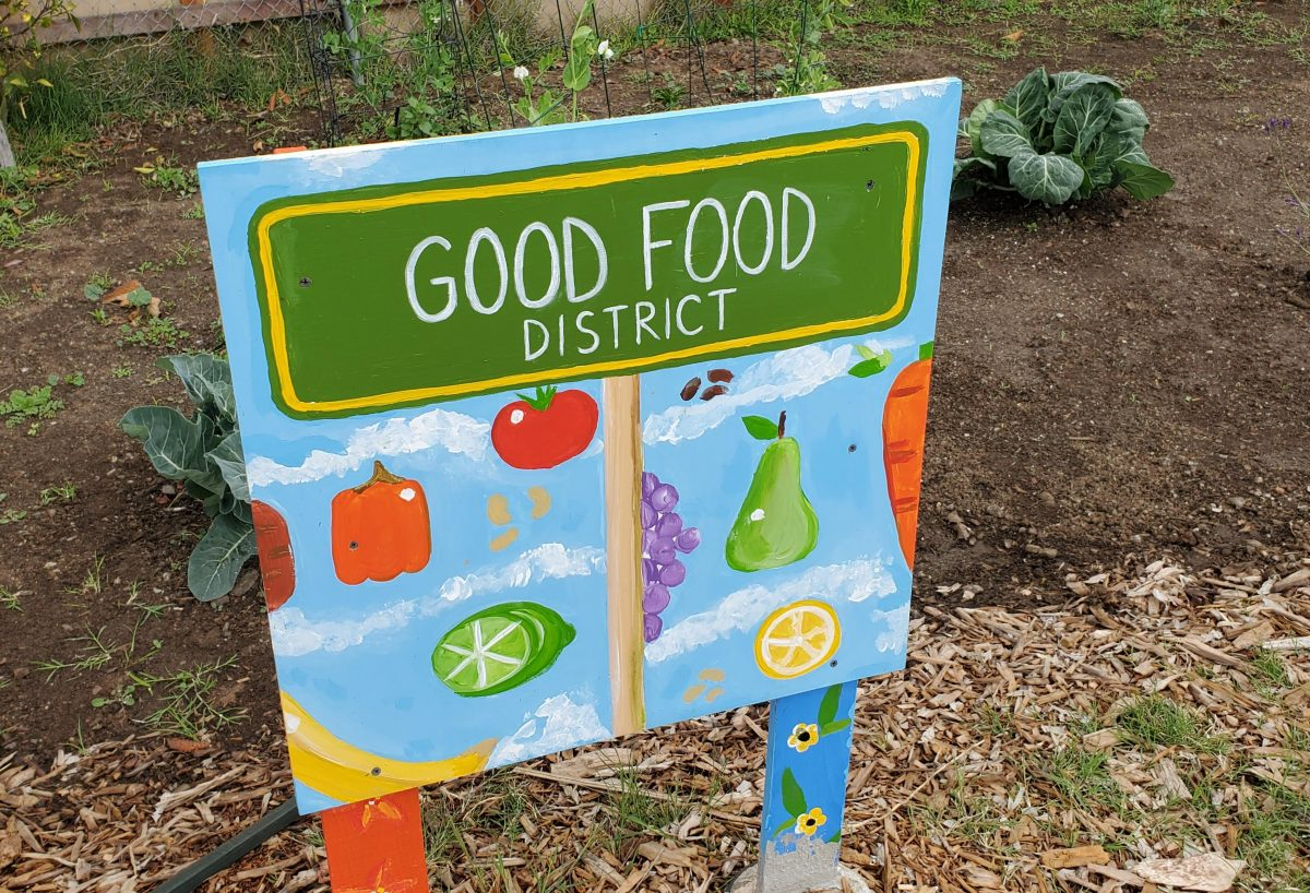 Good Food District garden area for Project New Village