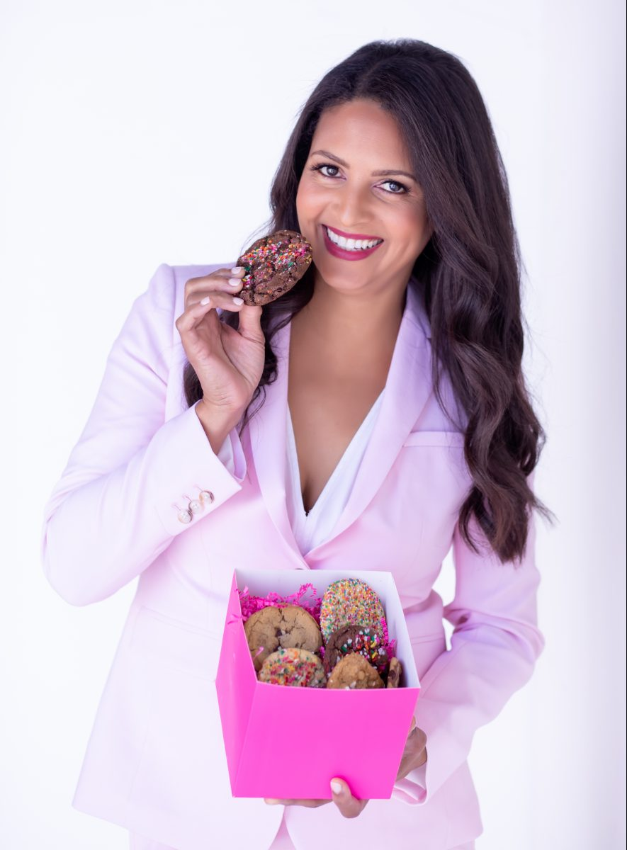 Maya Madsen, owner and baker of Maya's Cookies