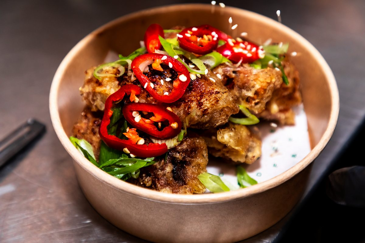 Chicken wings at Drums and Flats in South London