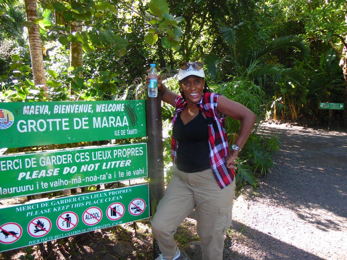Dr. Cathy Gomes in Tahiti