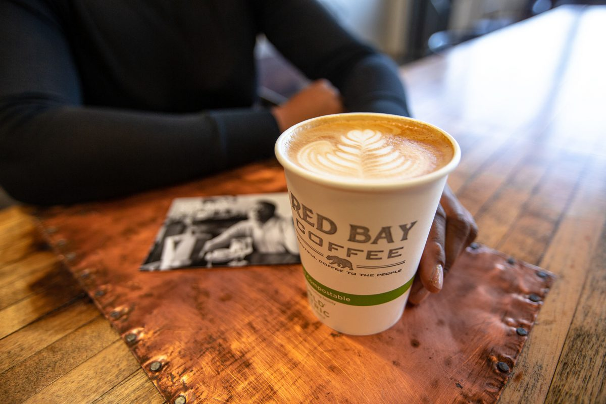 Red Bay Coffee in a World Centric compostable cup
