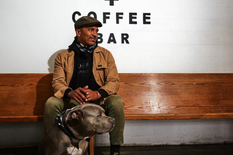 Keba Konte with his dog