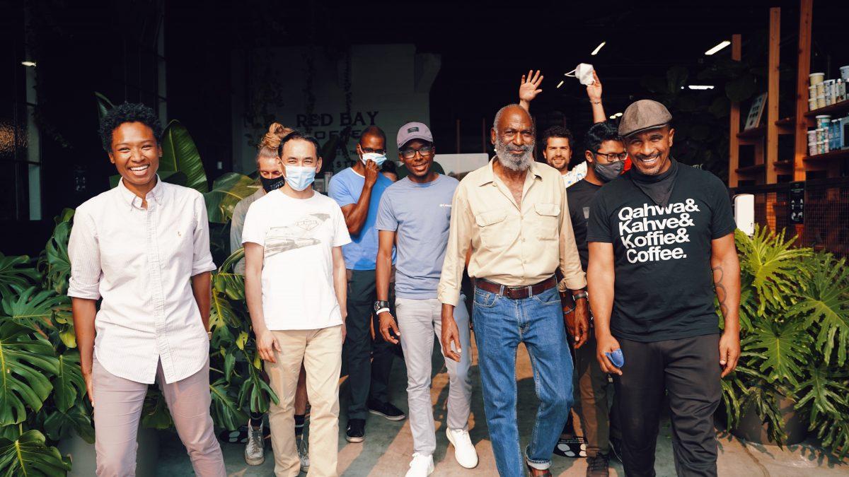 Keba Konte and the Red Bay Coffee team