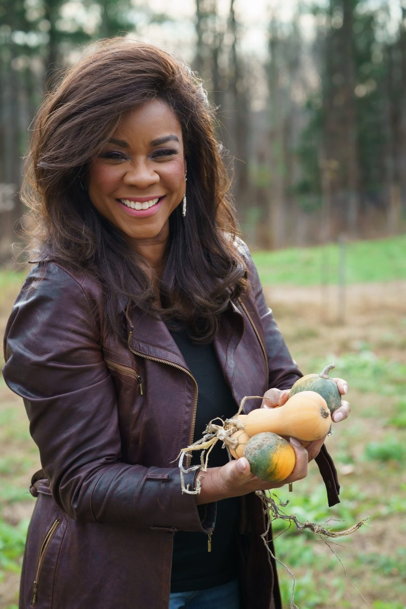 Denyce Graves showing produce from your farm