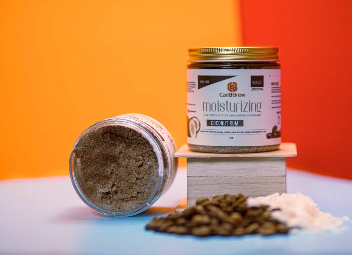Caribbrew coconut rum coffee scrub