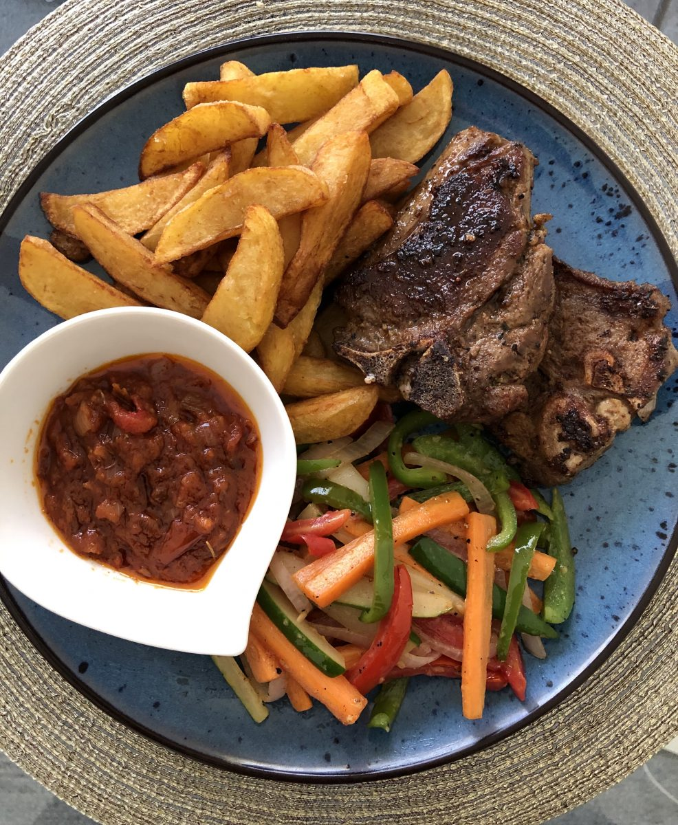 Food available at Sai Wine and Champagne Cafe in Ghana