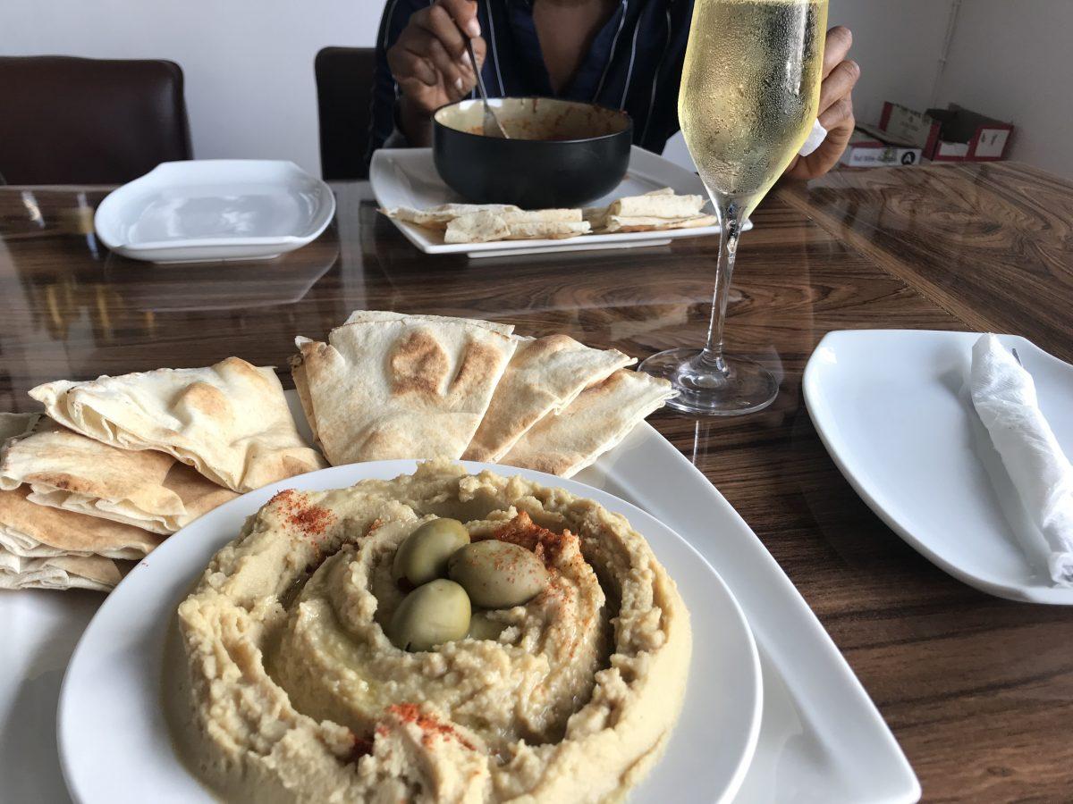 Hummus at Sai Wine and Champagne Café in Ghana