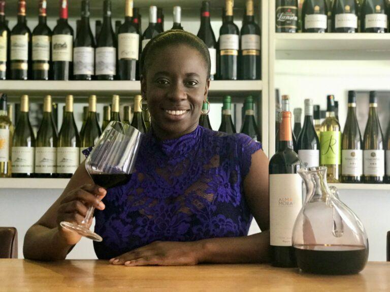 Nadia Takyiwaa Mensah at Sai, her wine and champagne café