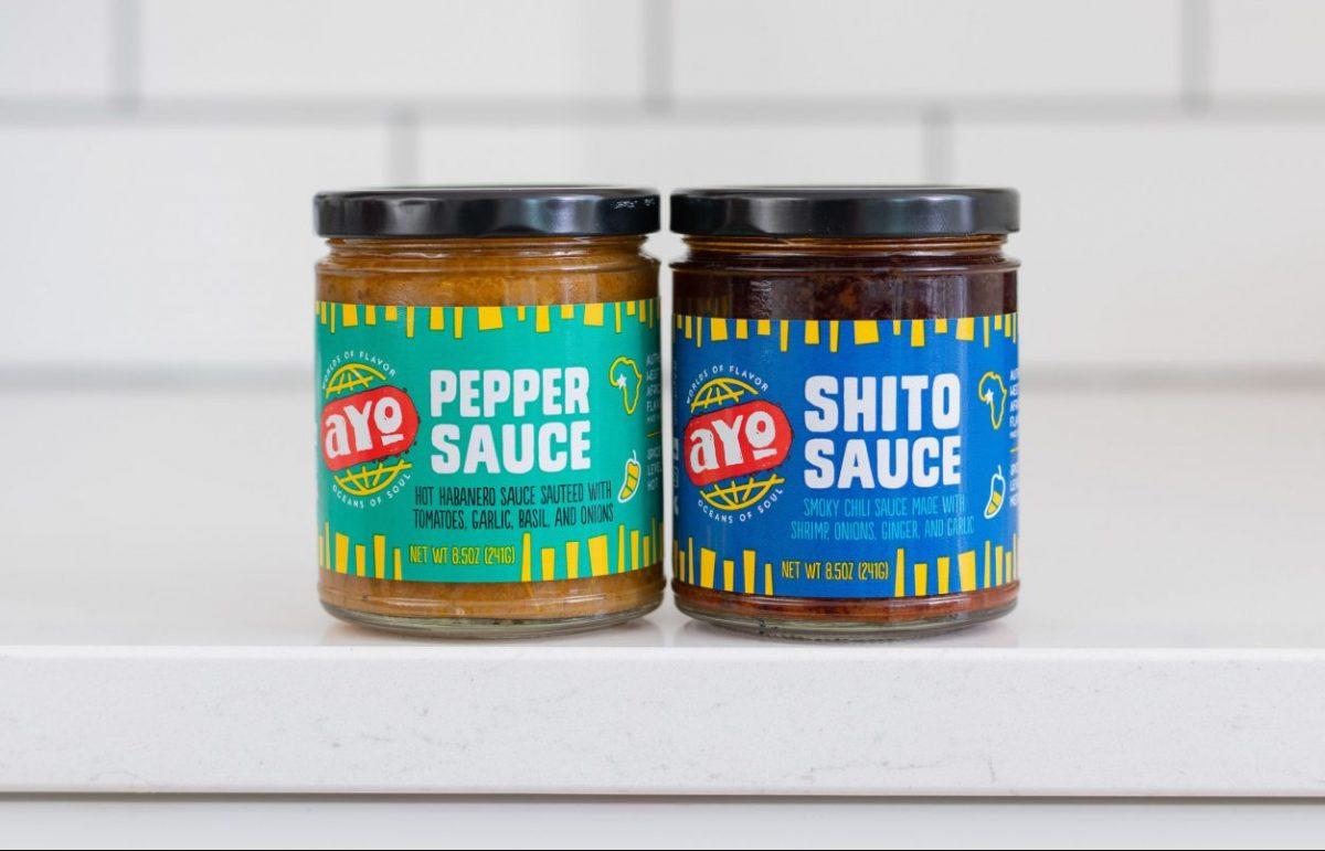 AYO Foods pepper sauce and shito sauce