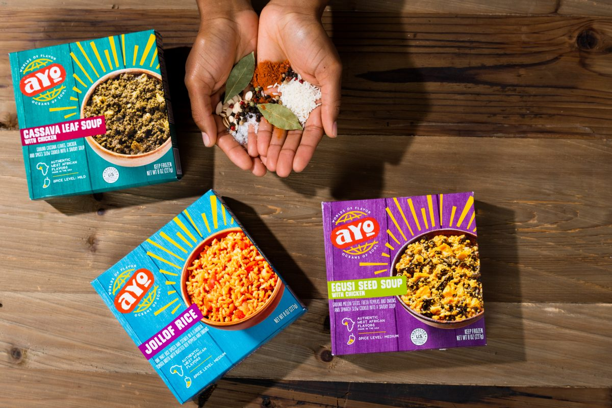 AYO Foods products created with Chef Eric Adjepong