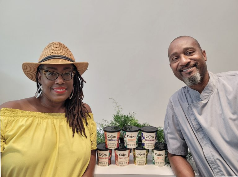 Nicole Foster and Dwight Campbell, co-founders of Baltimore-based Cajou Creamery