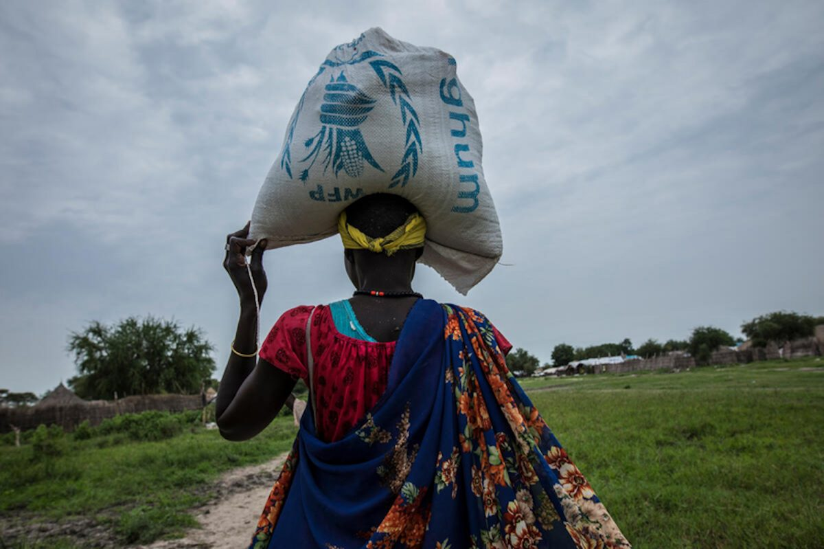 Airdrop in South Sudan