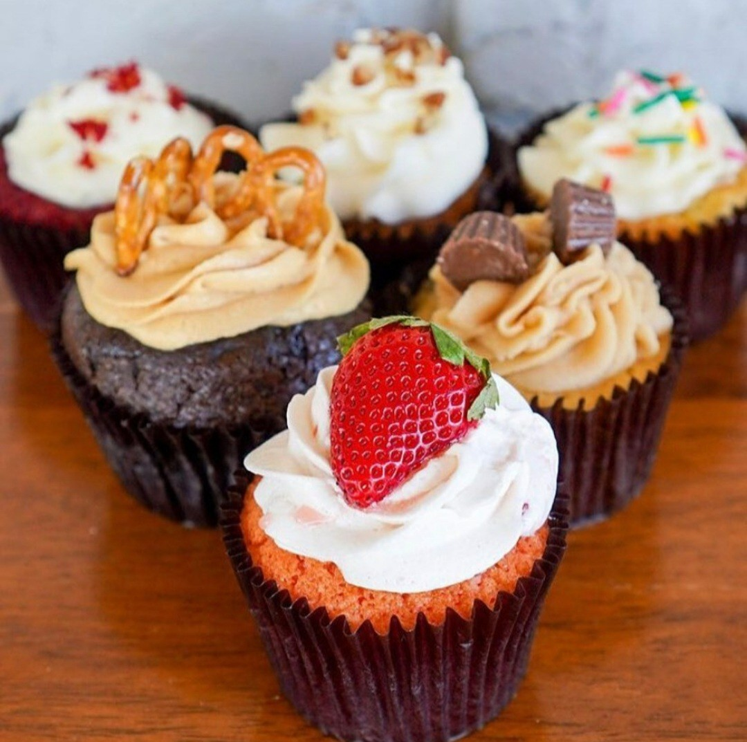 Assortment of In My Fillings cupcakes