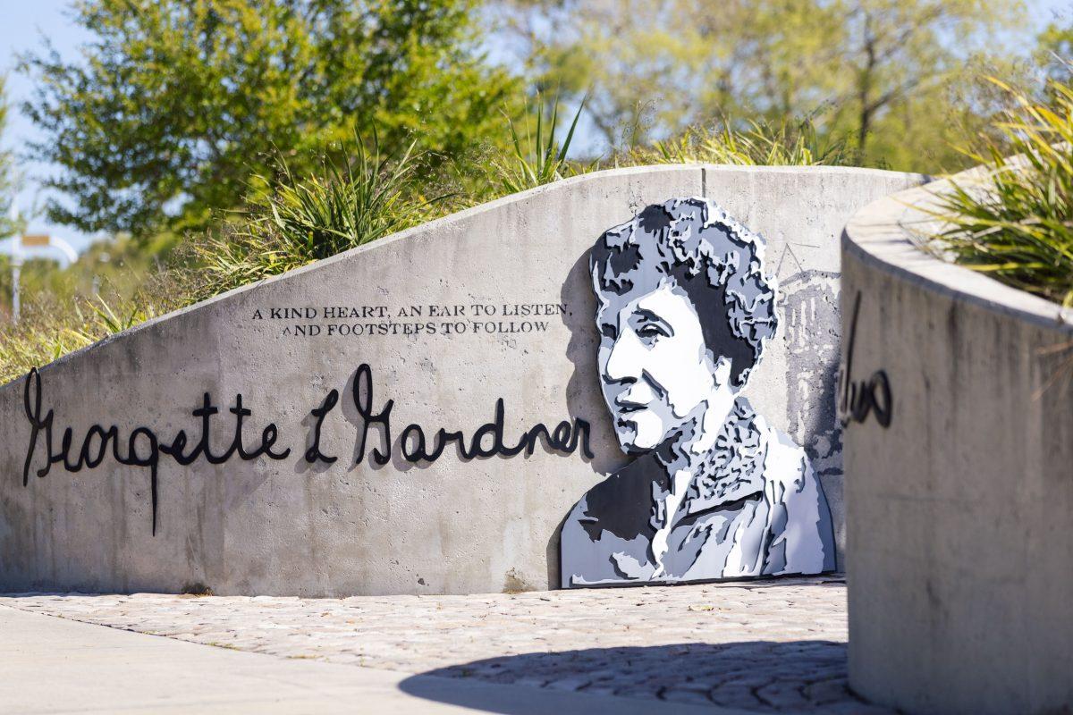 Wall art of Georgette Gardner in Perry Harvey Sr. Park in Tampa