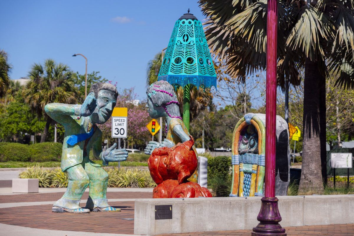 Sculptures in Perry Harvey Sr. Park in Tampa Bay