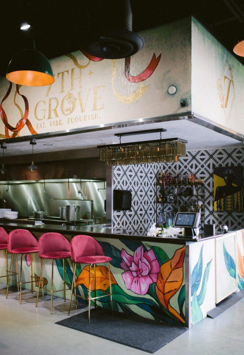 Interior of 7th + Grove restaurant in Tampa, FL
