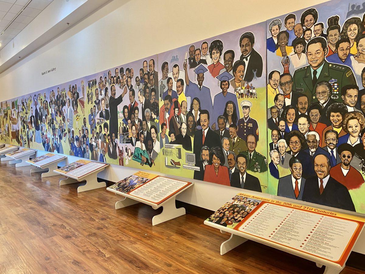 Mural in the Tubman Museum in Macon, GA